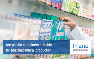 Are plastic containers suitable for pharmaceutical products?