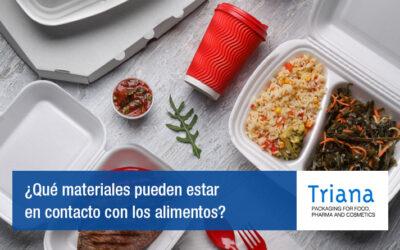 ¿Qué materiales pueden estar en contacto con los alimentos?