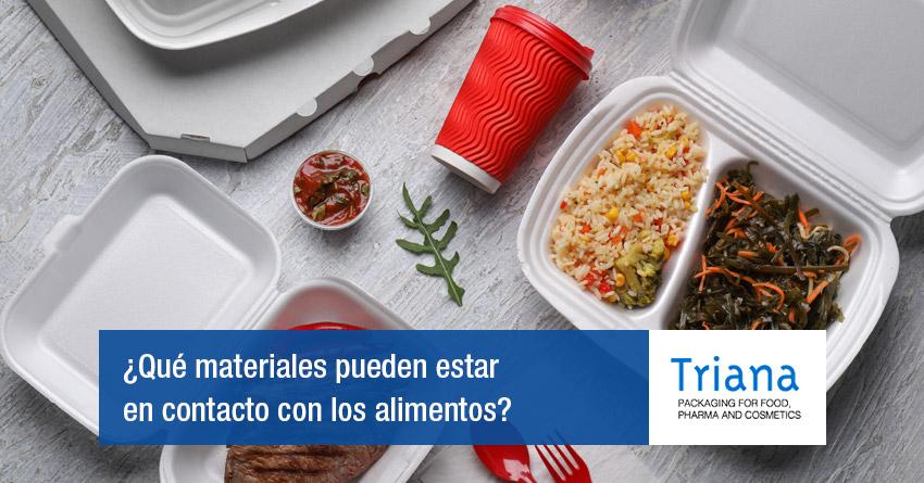 Plásticos con contacto con los alimientos