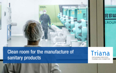 Clean room for the manufacture of sanitary products