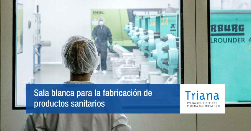 Sala blanca para la fabricación de productos sanitarios